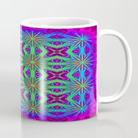 psychedelic Mugs featuring PSYCHEDELIC flowers by 2sweet4words Designs