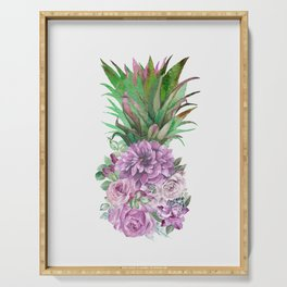 Floral Pineapple 1 Serving Tray