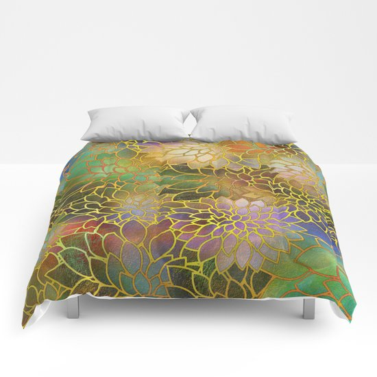 Floral Abstract 3 Comforters