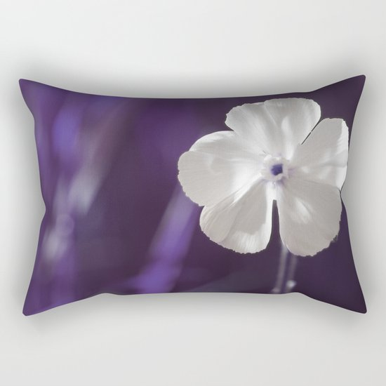 White Flower Art Rectangular Pillow