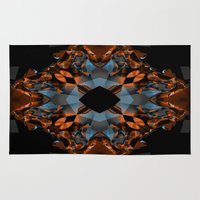 kaleidoscope Area & Throw Rugs featuring Kaleidoscope by Robin Curtiss