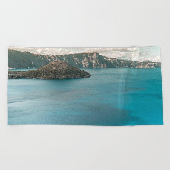 Summer At The Lake Beach Towel