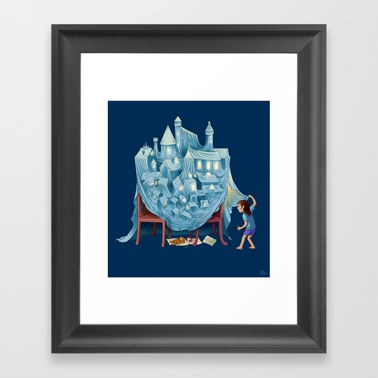 The Perfect Chair Fort Framed Art Print
