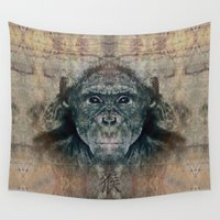 monkey Wall Tapestries featuring Monkey by Zandonai