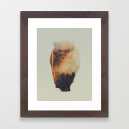 Walking Bear Framed Art Print