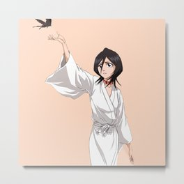 Rukia Bleach Beautiful Metal Print