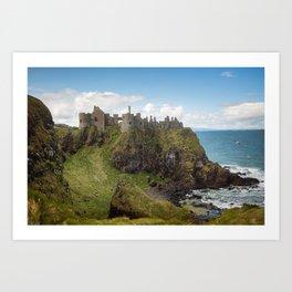 Castle of a Cliff  Art Print