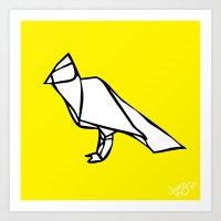 Origami Cockatoo [Origami Series] Art Print