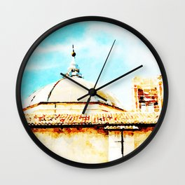 L'Aquila: dome and collapsed bell tower Wall Clock