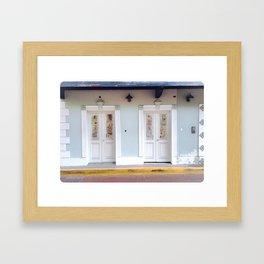 Puerto Rico Street Doors Framed Art Print