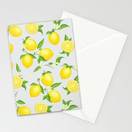 You're the Zest - Lemons on White Stationery Cards