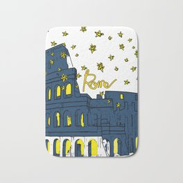 Rome Italy Colosseum Starry night Bath Mat