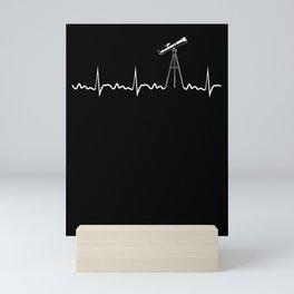 Telescope Heartbeat Astronomy Solar System Science Mini Art Print
