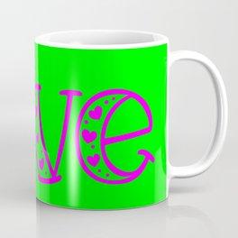 Love & Flashy Colors Coffee Mug