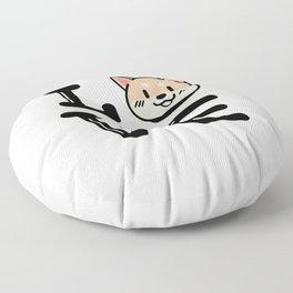 I Love Shiba Inu Floor Pillow