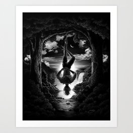 XII. The Hangman Tarot Card Illustration Art Print