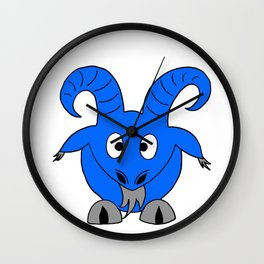 Drawing cartoon of a male goat Wall Clock