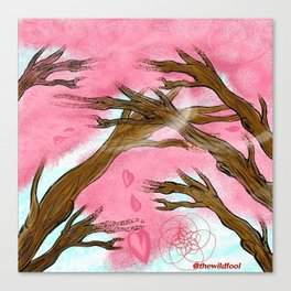 When The Cherry Blossoms Fall Canvas Print