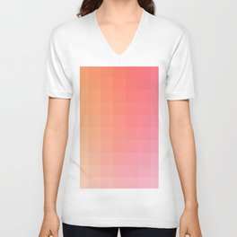 Lumen, Pink and Orange Light Unisex V-Neck
