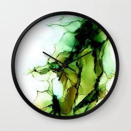 Green Bloom Wall Clock