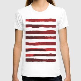 Watercolor Stripes (Red) T-shirt