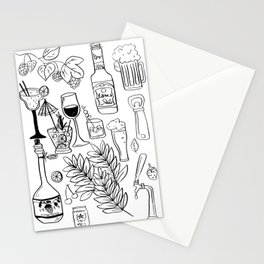 Alcohol Doodles Stationery Cards