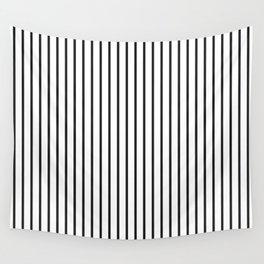 Garden Sludge Grey Pinstripe on White Wall Tapestry