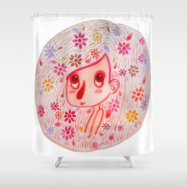 Pink and Girly Shower Curtain