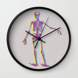 Multicolor human skeleton Wall Clock