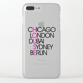 Worldwide House EDM Quote Clear iPhone Case