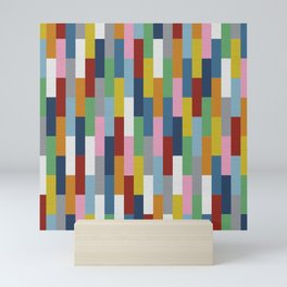 Bricks Rotate Mini Art Print