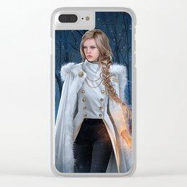 Winter Wren Clear iPhone Case