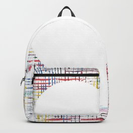 The System - large heart Backpack
