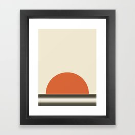 Sunrise / Sunset I - Orange & Black Framed Art Print