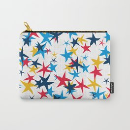 Red white and blue stars with a pop of yellow Carry-All Pouch