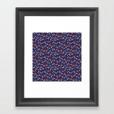 Moonlit Jungle Floral Framed Art Print