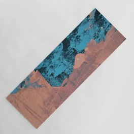 Delight [4] in pink: a pretty minimal abstract piece in blues and pink by Alyssa Hamilton Art Yoga Mat