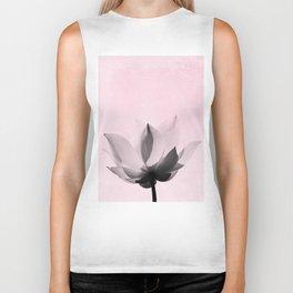 Lotus Flower | Pink Background Biker Tank