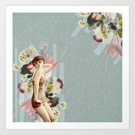 Feminine Collage III Art Print