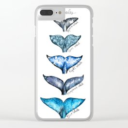 Whale tails Clear iPhone Case