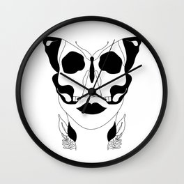 Deadly Flutter Wall Clock