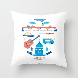 Love Letter to Austin, Texas Throw Pillow