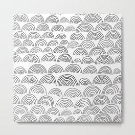 half circle pattern Metal Print