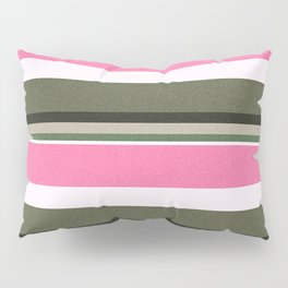Pink Roses in Anzures 4 Stripes 5H Pillow Sham