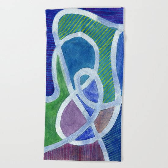 Curved Paths Beach Towel