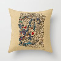 medieval Throw Pillows featuring - medieval - by Magdalla Del Fresto