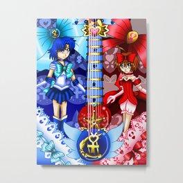Sailor Mew Guitar #21 - Sailor Mercury & Mew Ringo Metal Print