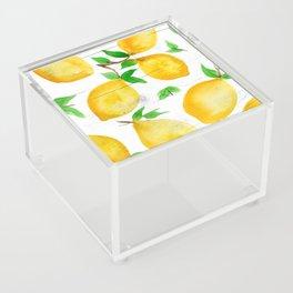 Watercolor Lemons on Farmhouse Acrylic Box