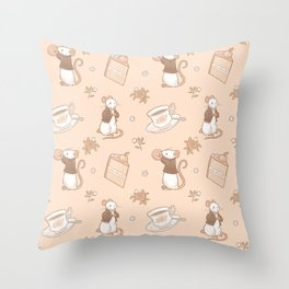 Peaches and Cream Throw Pillow