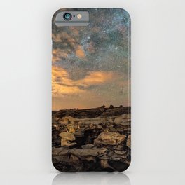 Bisti Badlands Hoodoos Under Bright New Mexico Starry Night by OLena Art iPhone Case